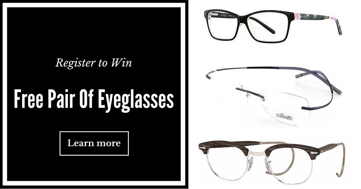 Register to win free designer eyeglasses