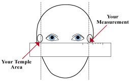 How To Measure Eyeglass Frame Size : Medindo Seus oculos otica Shalon - (11) 5548-6753