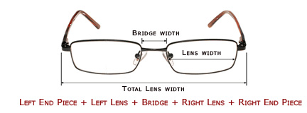 Eyeglass Measurements On Frame : Frame Size, Frame Size Information, Eyeglass Frame Size ...